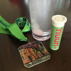 Drinking some nuun and basking in the glory of a new medal is my favorite kind of recovery.